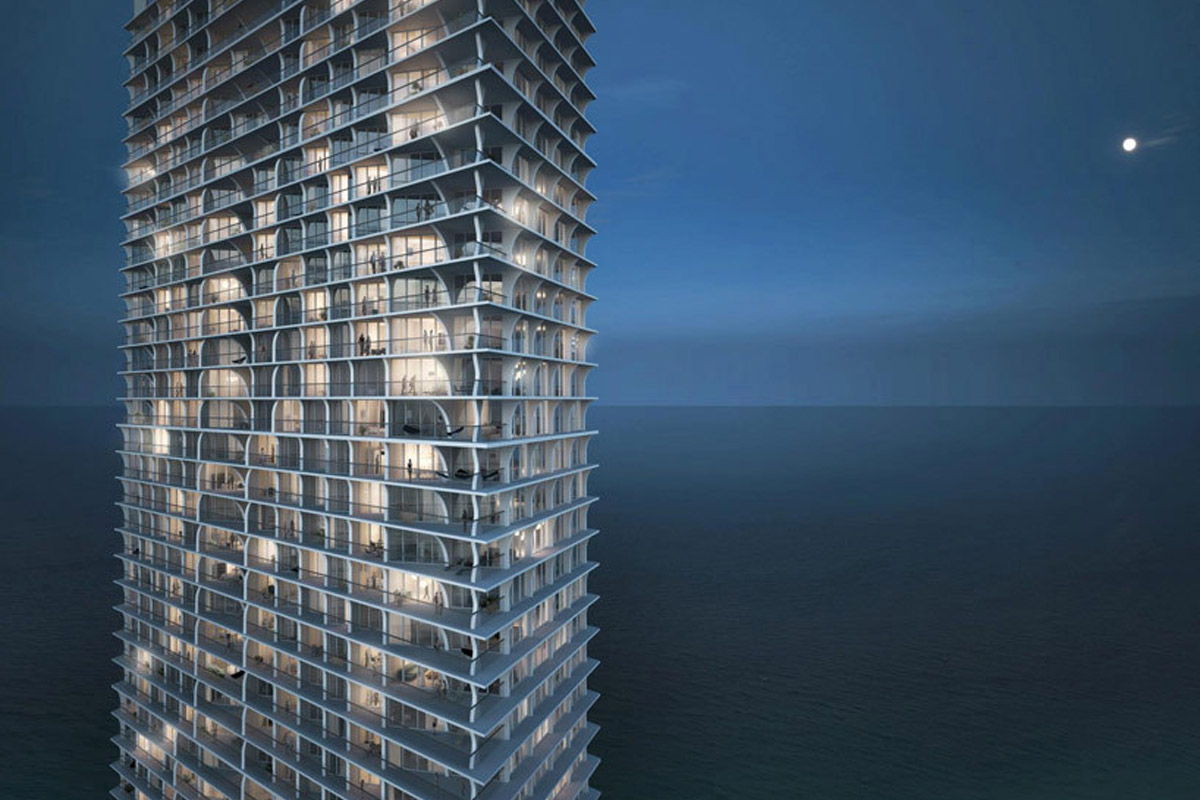 ]57-этажный жилой комплекс Jade Signature на берегу океана (Майами)