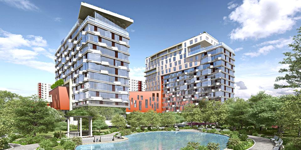 Фотографии, видео-презентации, обзоры и цены на квартиры в Баркли Парк