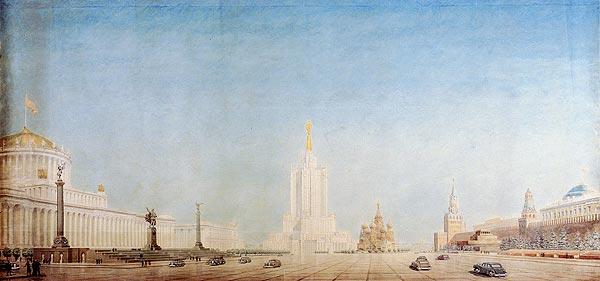 Высотное здание в Зарядье - Нереализованные проекты сталинской эпохи