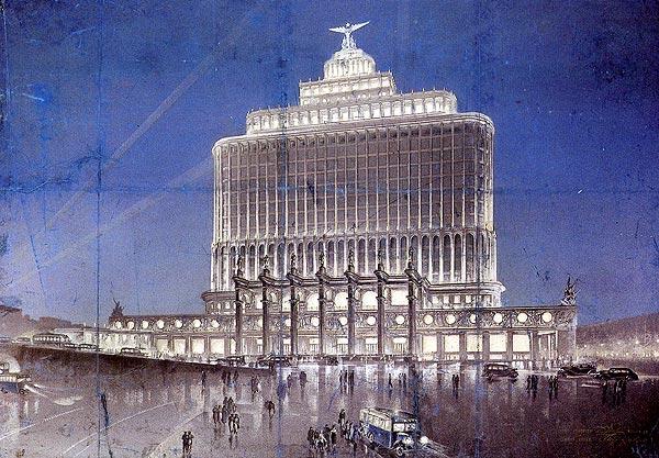 Нереализованные проекты сталинской эпохи - Дом Аэрофлота