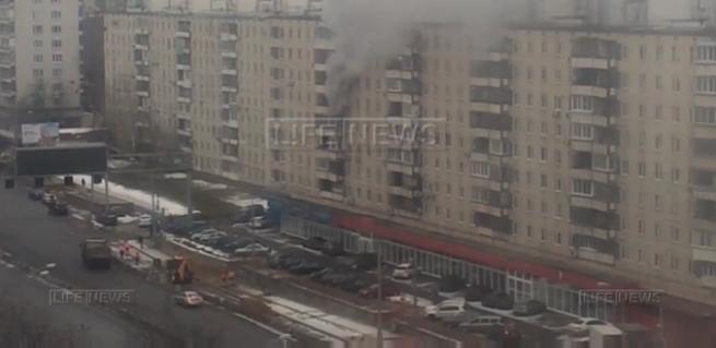 Фото пожар на улице народного ополчения