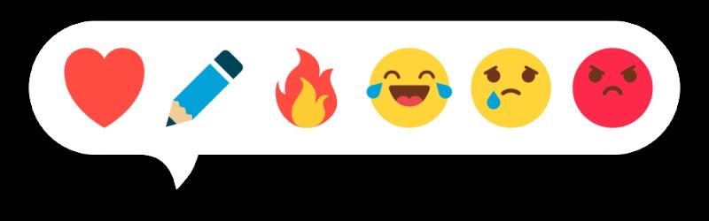 """Реакции в ЖЖ: """"Нравится!"""" - """"Пиши ещё"""" - """"Огонь"""" - """"Ха-ха"""" - """"Сочувствую"""" - """"Я возмущён!"""""""