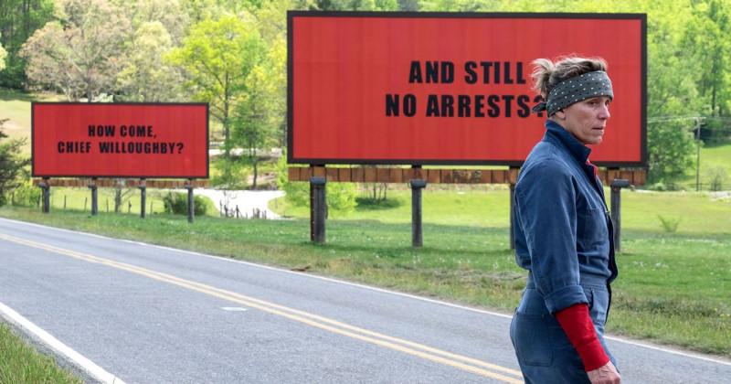 """Три билборда на границе Эббинга, Миссури"" 2017"