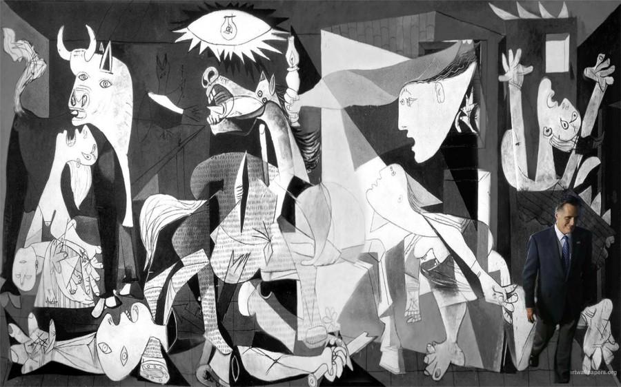 Mitt_walking_away_from_Guernica
