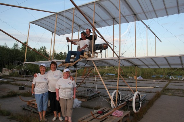 """Airplane """"Farman-4"""" was reconstructed in St. Petersburg"""