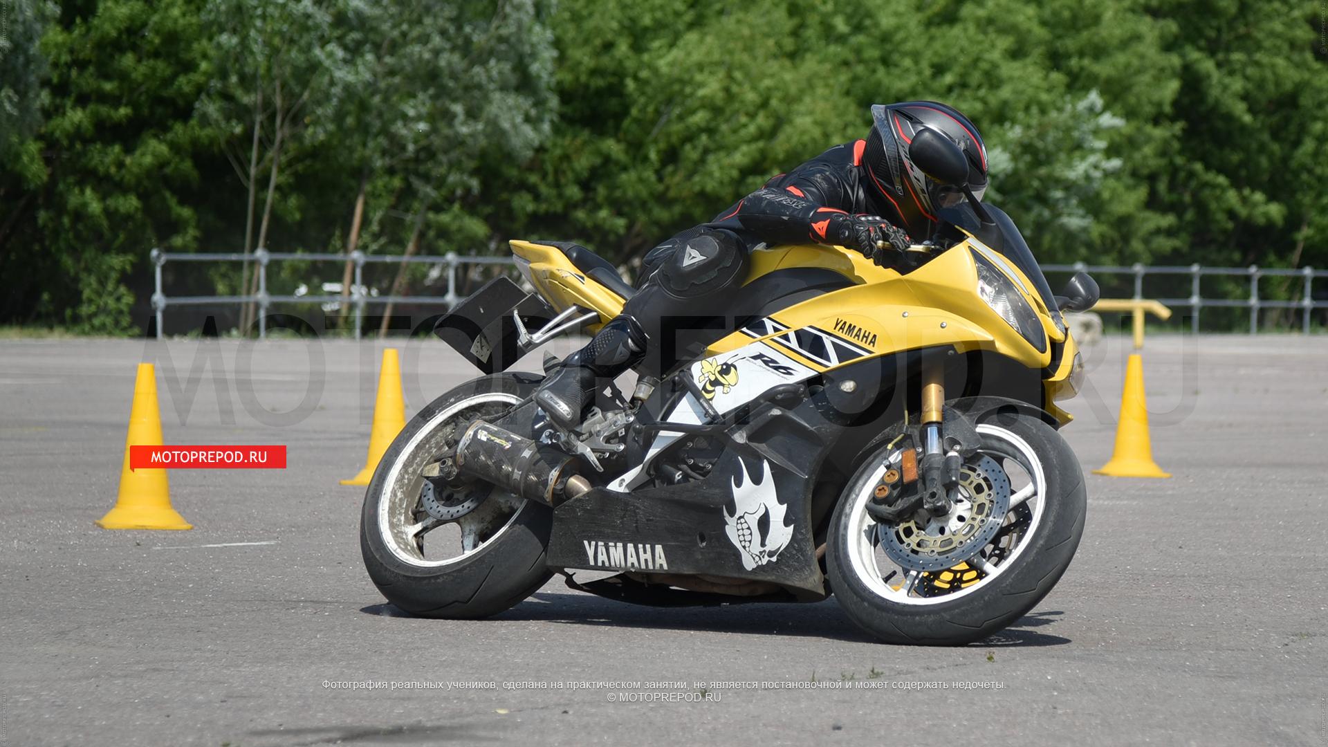 Практическое занятие на мотоцикле Yamaha R6