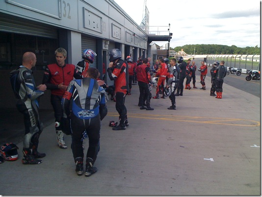 Getting ready to head out on track