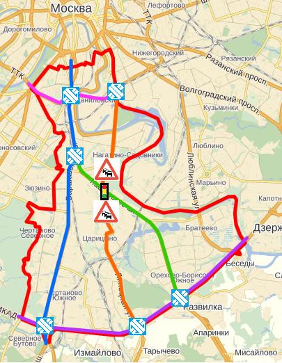 Карта ЮАО
