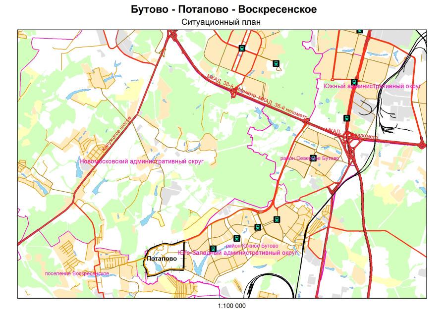 Ситуационный план Потапово