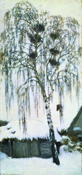 Белая зима. Грачиные гнезда. 1904
