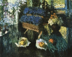 Цветы и фрукты на рояле. 1904