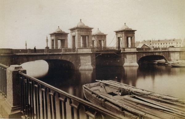 Калинкин мост3_Неизвестный автор, Старо-Калинкин мост через Фонтанку,1880-е, отпечаток на альбуминовой бумаге