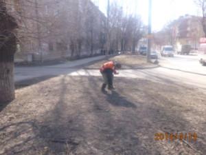 Уборка посторонних предметов ул. Матросова (3)