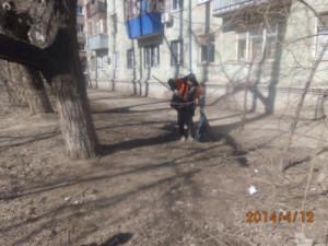 Уборка посторонних предметов ул. Физкультурная (2)
