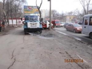 Очистка тротуара ул Аврора (4)