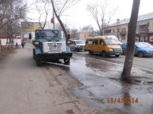 Очистка тротуара ул Аврора (7)