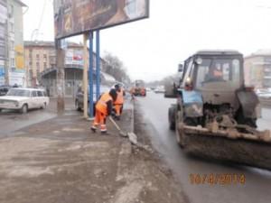 Уборка зимних накоплений ул. 22 Партсъезда