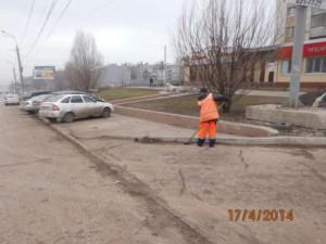Уборка зимних накоплений ул. 22 Партсъезда (2)