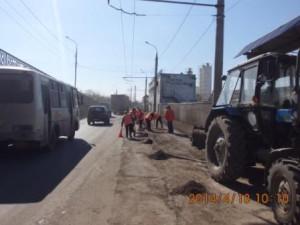 Очистка от зимних накоплений ул.Грозненская
