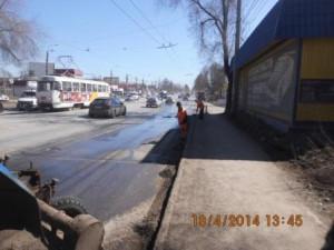 Уборка зимних накоплений ул. 22 Партсъезда (3)