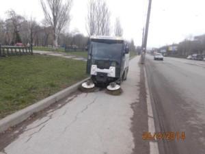 Очистка тротуара ул. Аэродромная