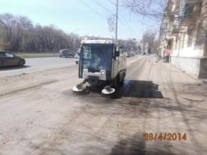 Очистка тротуара ул. Победы (1)