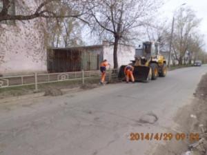 Очистка прилотковой ул.Заводская