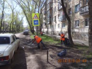 Очистка газона ул.Молодежный пер.