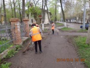 Ручная уборка тротуаров ул.Зеленая Медицинская