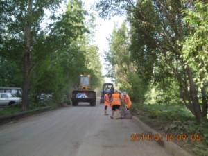 Очистка зимних накоплений ул.Придорожная