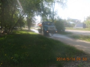 Мойка тротуаров по улице С.Армии
