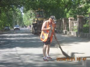 Ручная уборка тротуаров и смёта Ул. Зелёная