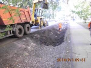 Очистка дренажной канавы ул.Фасадная