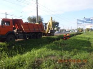 Очистка дренажной канавы ул.Новокуйбышевское шоссе