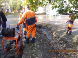 Очистка водопропускных труб ул.Зеленая