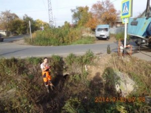 Очистка водопропусных труб по ул.Уральская
