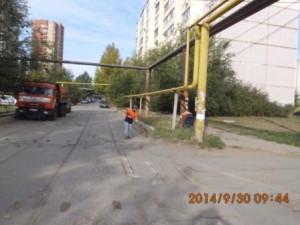 Очистка прилотковой части дорог от смёта ул.Егорова