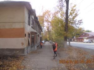 Ручная уборка тротуаров ул.Калининградская