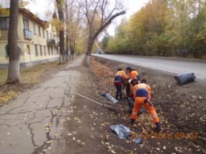 Уборка листвы ул.Фасадная