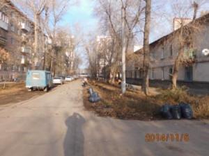 Очистка газонов Молодежный пер.