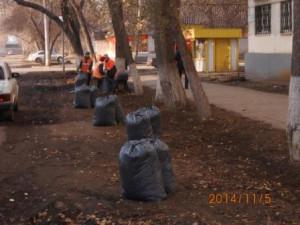 Очистка газонов ул.Зеленая