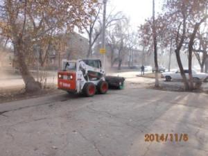 Подметание тротуаров ул.Калининградская
