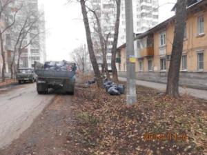 Сбор листвы Молодежный пер.