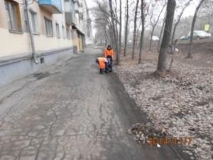 Ручная уборка тротуаров ул.Пугачёвский тракт