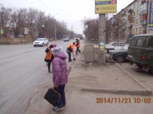 Уборка прилотковой ул.Пугачевский тракт