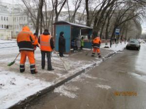 Уборка посадочных площадок ул. Советской Армии (1)
