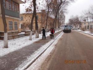 посыпка тротуаров ул.Молдавская