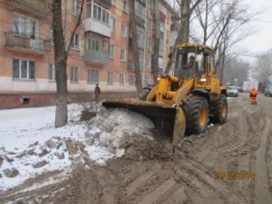 Вывоз снега ул.Гагарина (5)