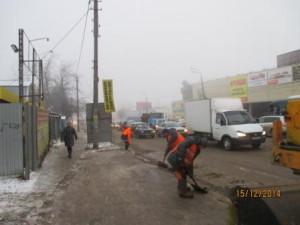 Очистка тротуара и вывоз снега ул. Аврора