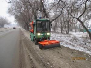 очистка тротуара от снега ул. 22 Партсъезда (1)